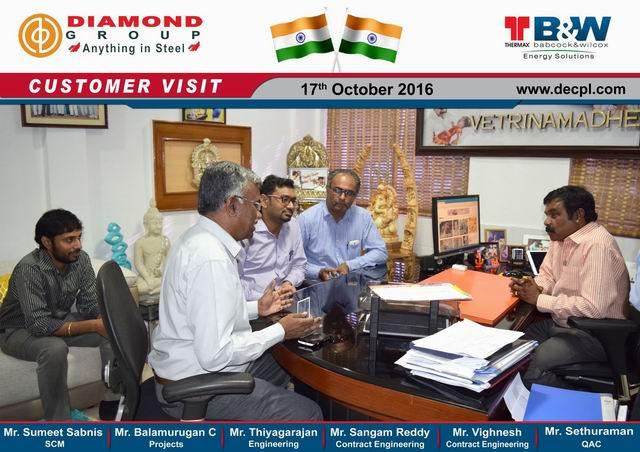 Diamond Group - News / customer visit - Thermax Babcock